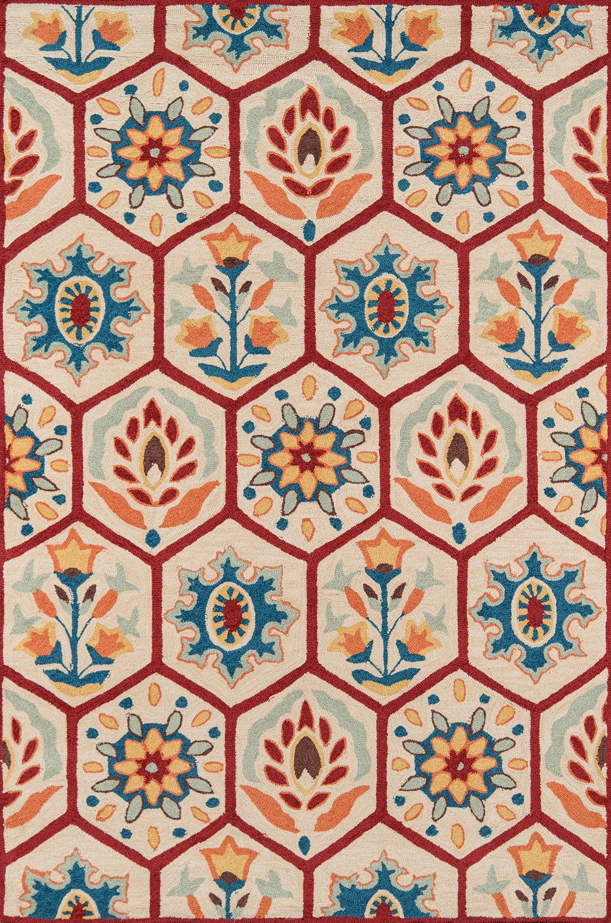 Momeni Havana HV-08 Red Area Rug main image