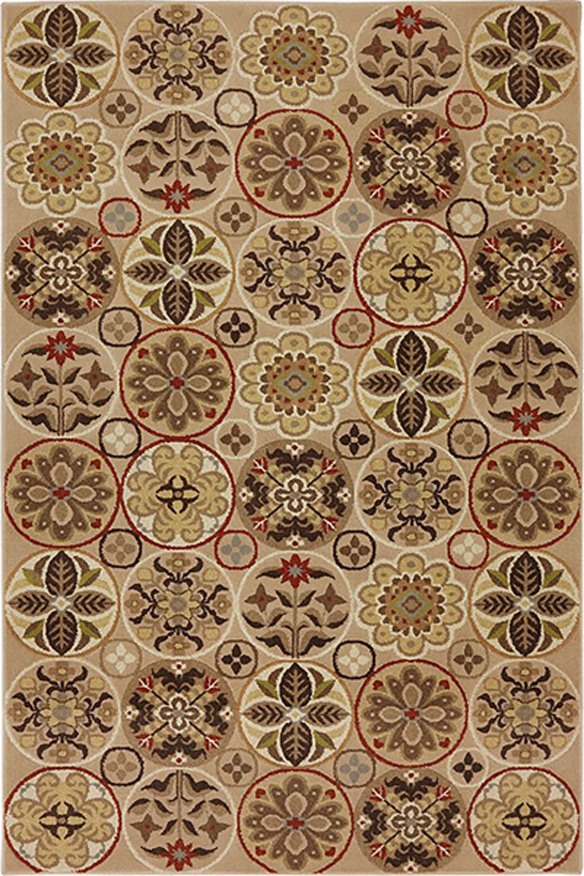 Mayberry Harbor Bay HB90438-Floral Quilt Multi Area Rug