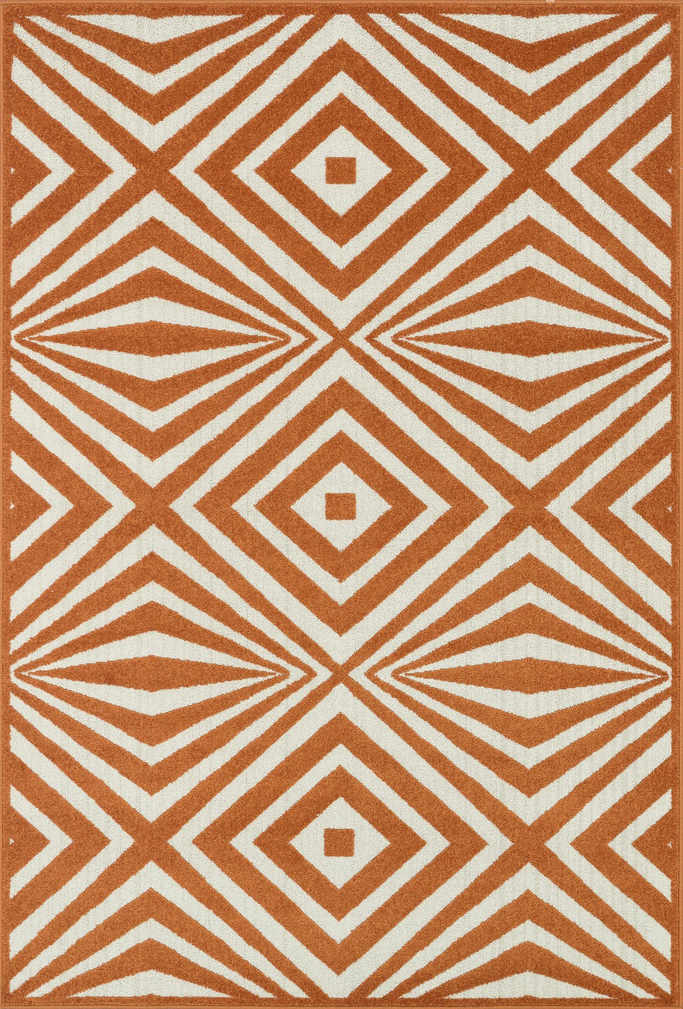 Loloi Catalina HCF04 Orange / Ivory Area Rug main image