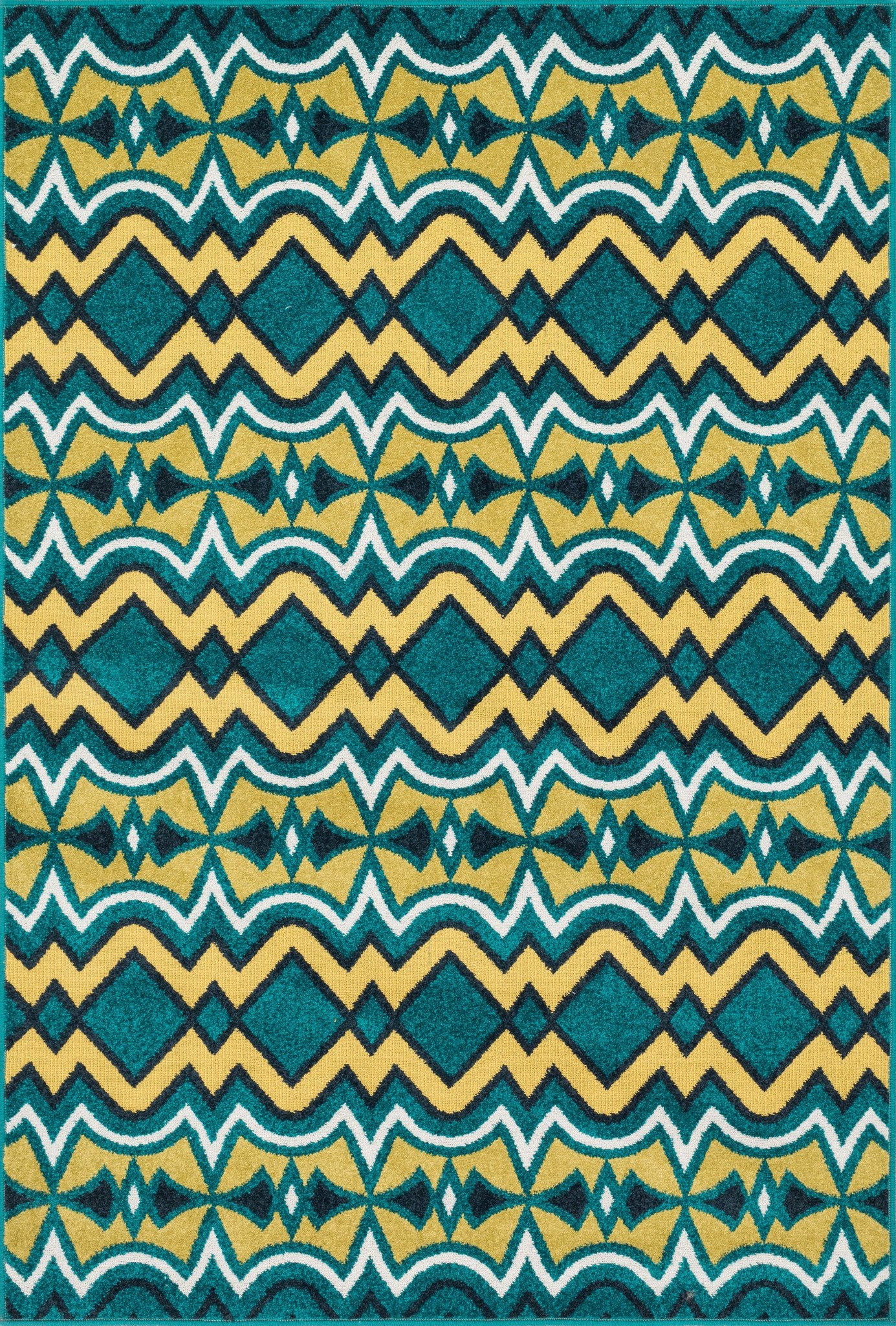 Loloi Catalina HCF10 Peacock / Citron Area Rug main image