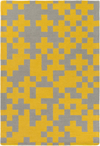 Artistic Weavers Hilda Beatrix Sunflower/Gray Area Rug main image