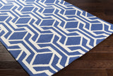 Artistic Weavers Hilda Gisele Royal Blue/Ivory Area Rug Corner Shot