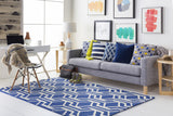 Artistic Weavers Hilda Gisele Royal Blue/Ivory Area Rug Room Scene