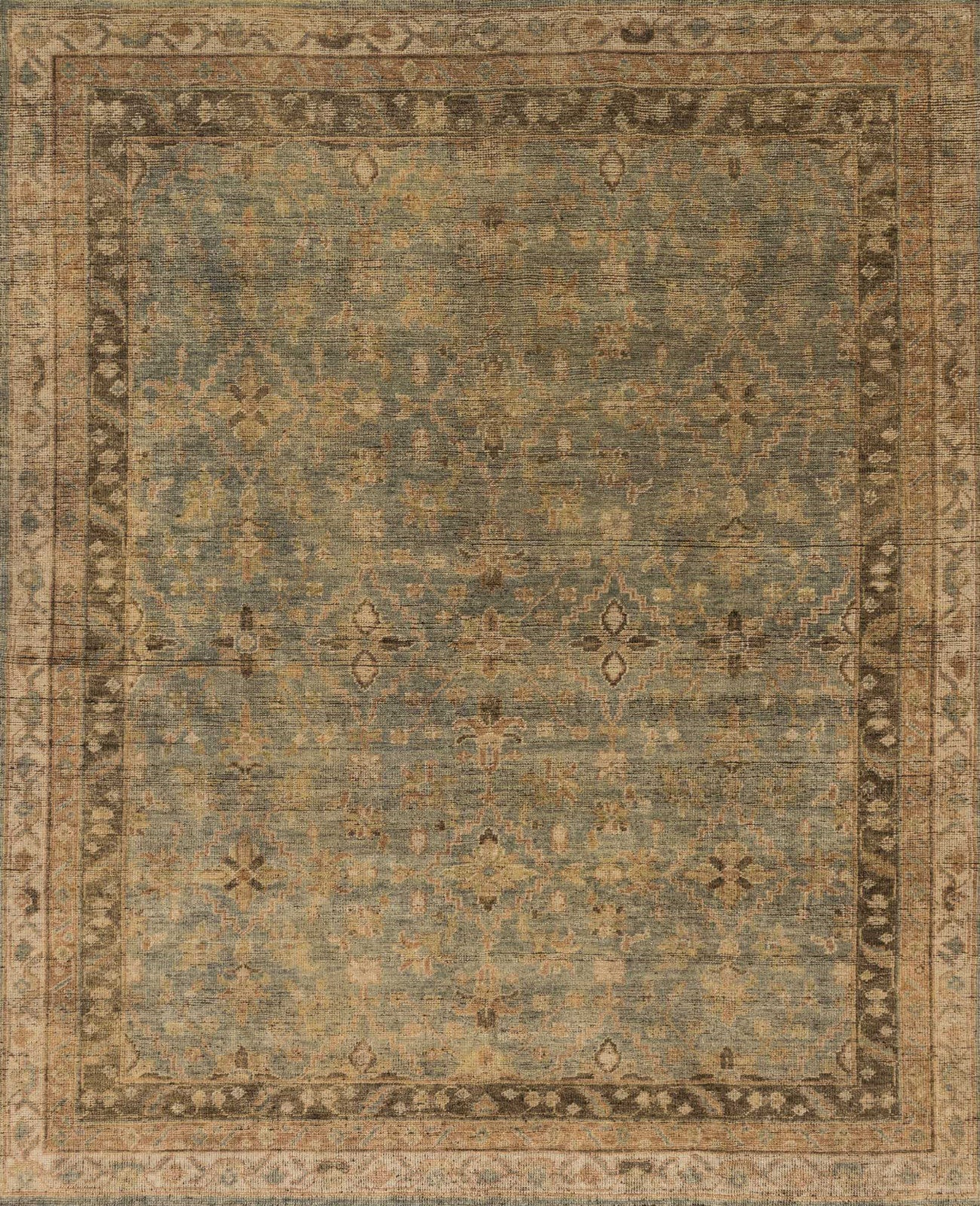 Loloi Heirloom HQ-04 Aqua/Terracotta Area Rug main image