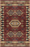 LR Resources Heritage 10104 Rust/Medium Green Hand Tufted Area Rug 5' X 7'9''