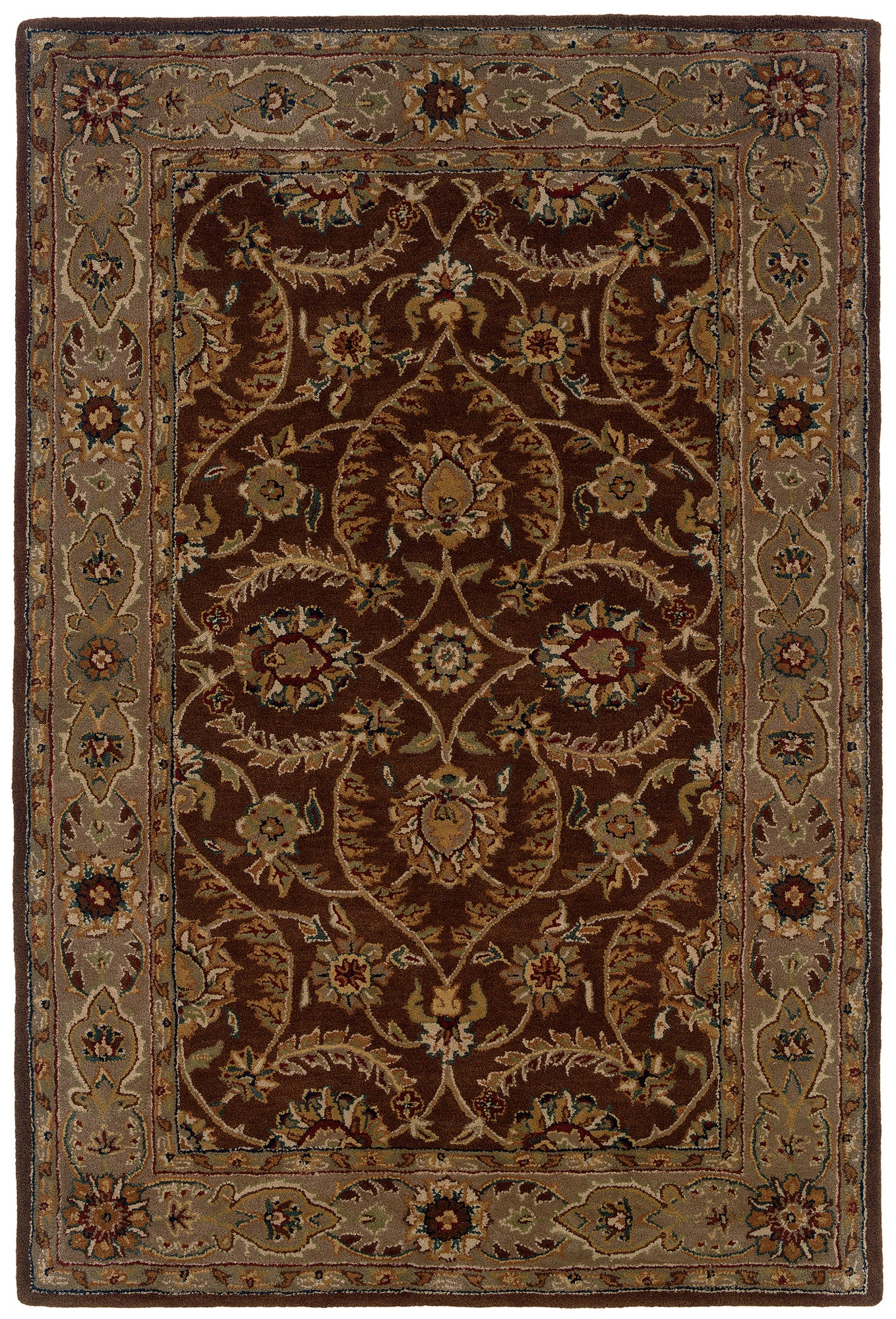 LR Resources Heritage 10106 Med Brown/ Beige Area Rug
