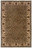 LR Resources Heritage 10108 Green/Ivory Hand Tufted Area Rug 5' X 7'9''