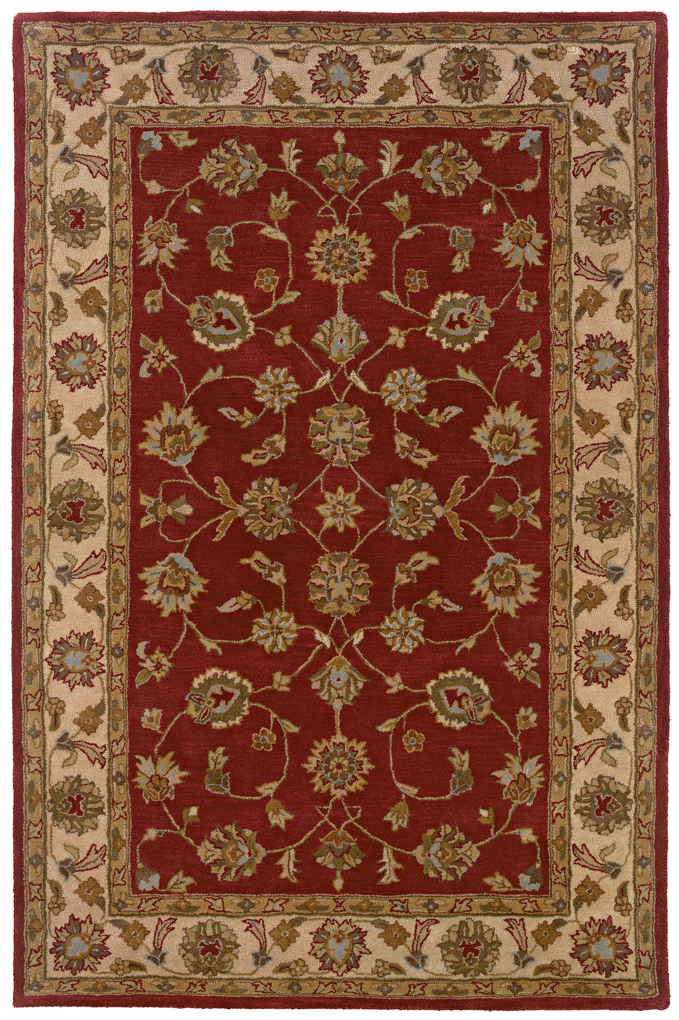 LR Resources Heritage 10114 Red/Ivory Area Rug