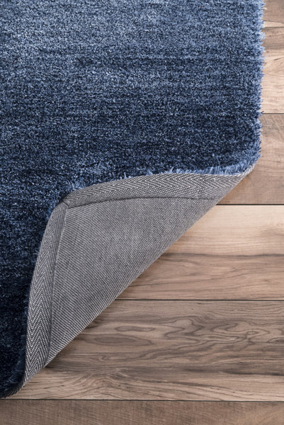 Nuloom Hand Tufted Ombre Hertha Shaggy Hjos04a Navy Area