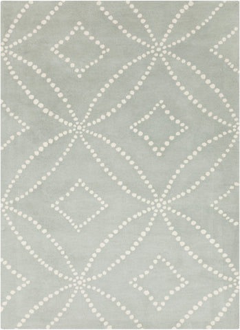 Surya HQL-8013 Light Gray Hand Tufted Area Rug by Harlequin
