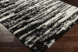Artistic Weavers Harrington Katie Onyx Black/Ivory Area Rug Corner Shot