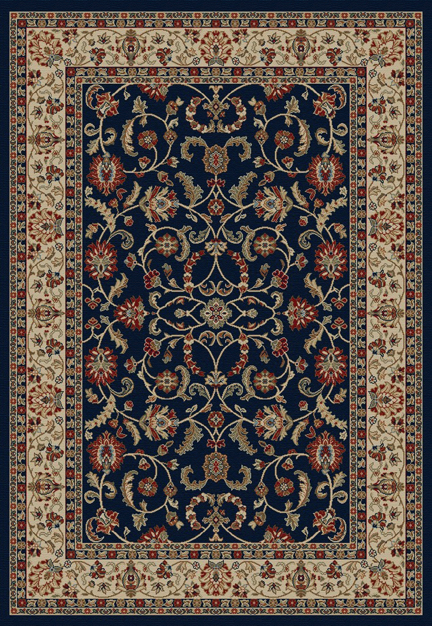Mayberry Home Town HT7914-Classic Keshan Navy Area Rug