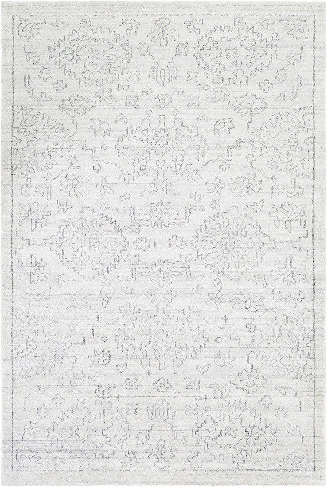 Surya Hightower HTW-3005 White/Black Area Rug main image