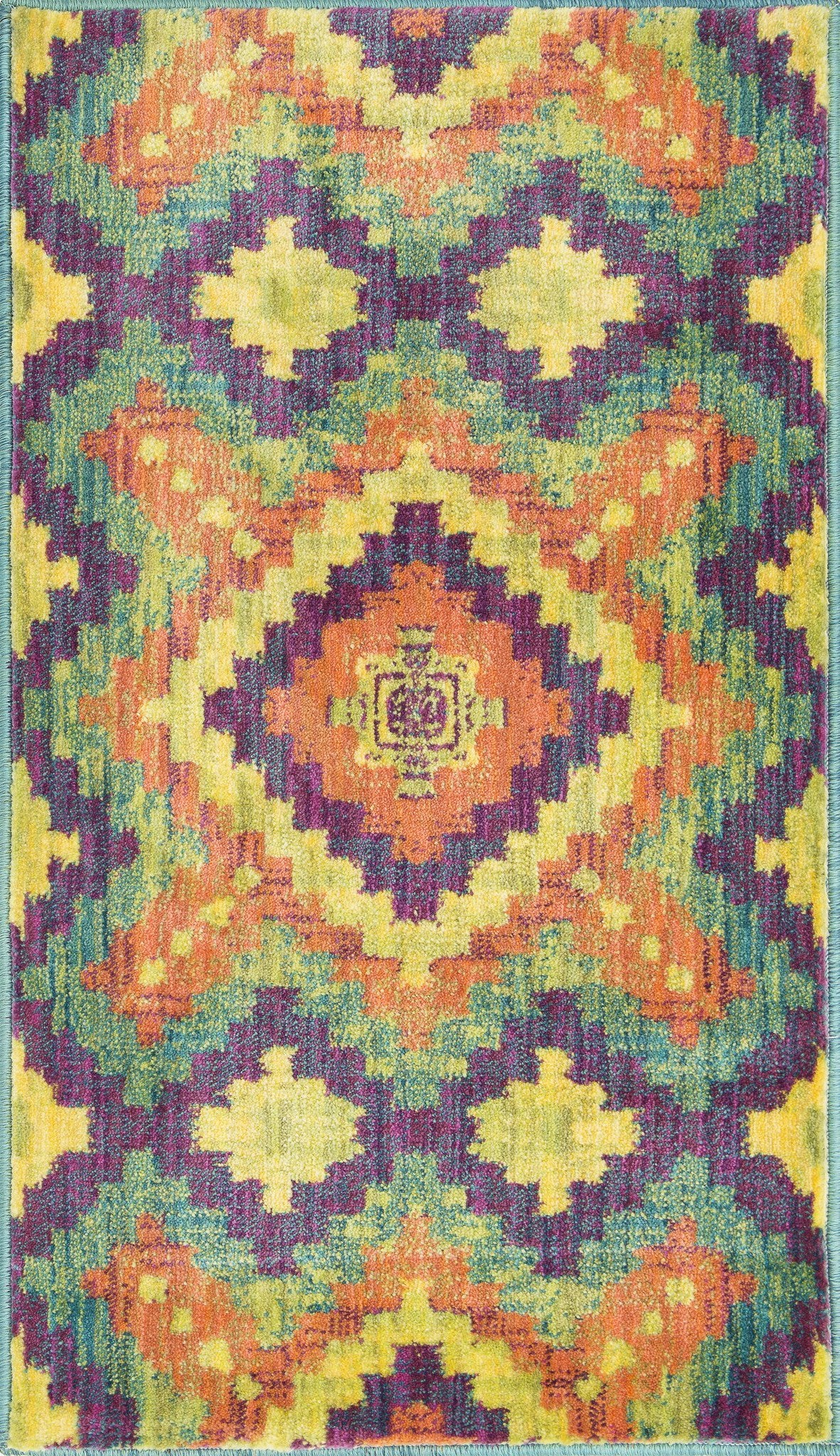 Loloi Isabelle HIS03 Orange / Green Area Rug main image