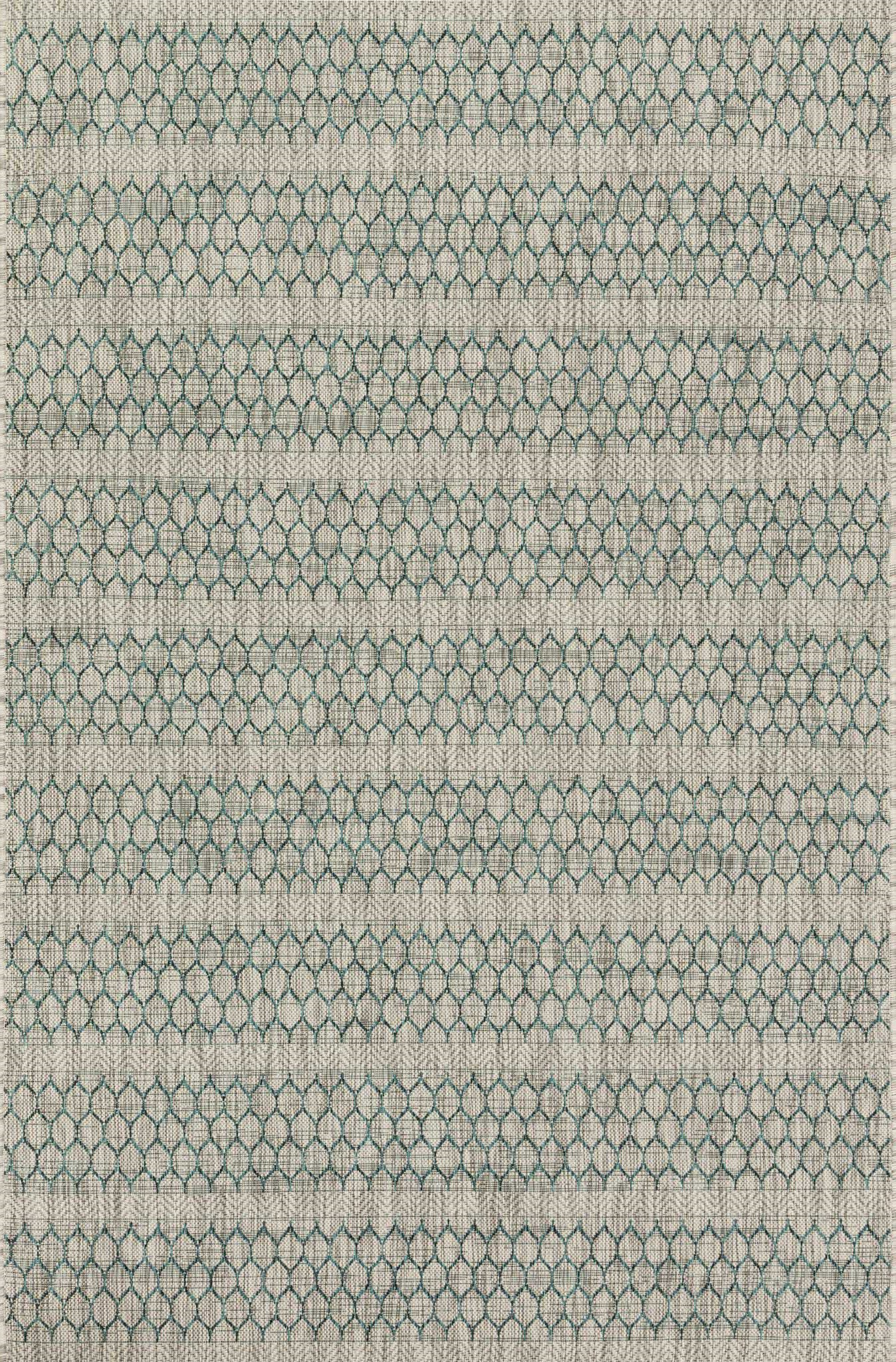 Loloi Isle IE-01 Grey / Teal Area Rug