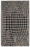 LR Resources Jaali 04901 Charcoal Hand Tufted Area Rug 5' X 7'9''