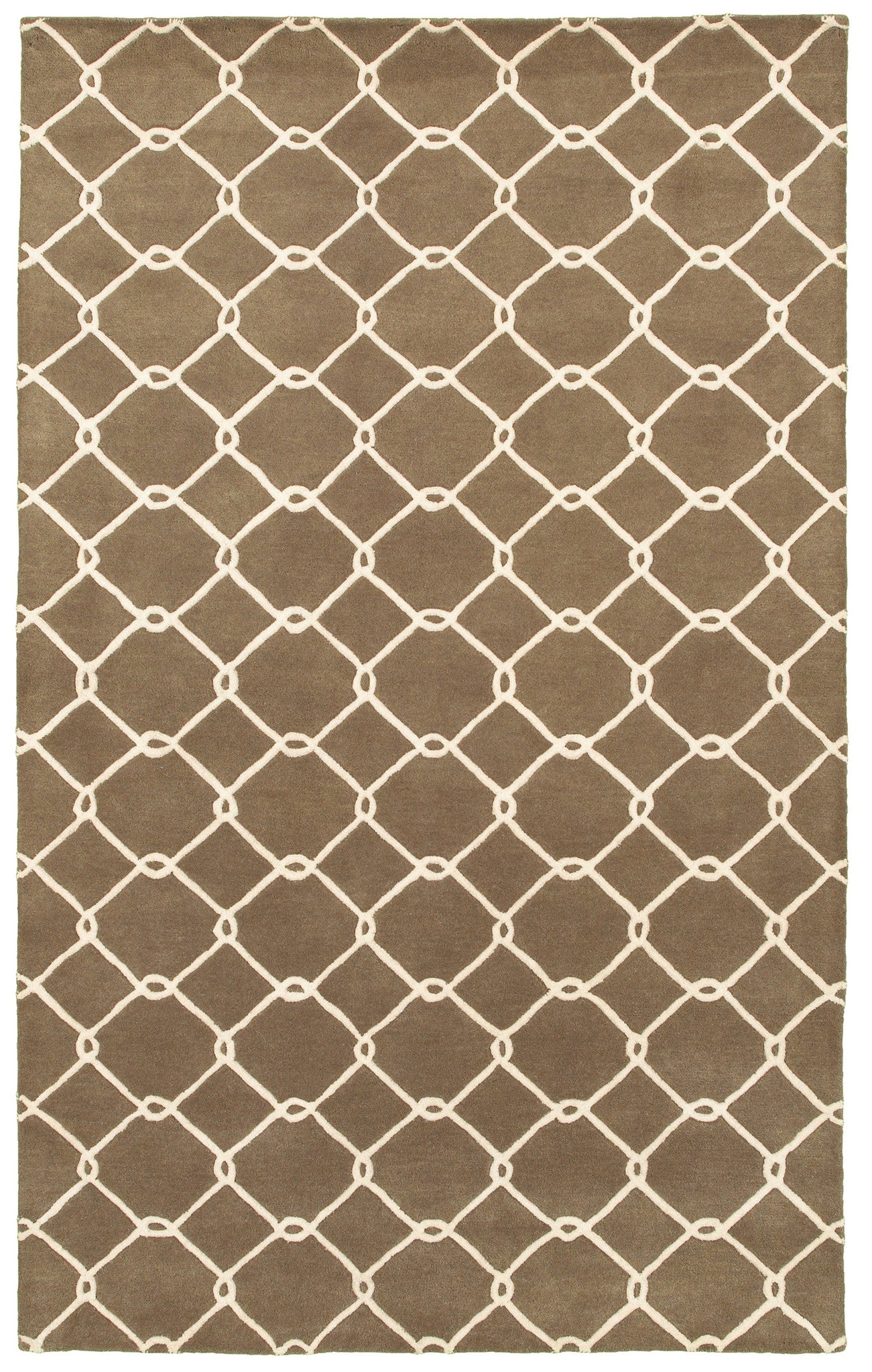 LR Resources Jaali 04903 Brown Area Rug