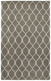 LR Resources Jaali 04904 Gray Hand Tufted Area Rug 5' X 7'9''