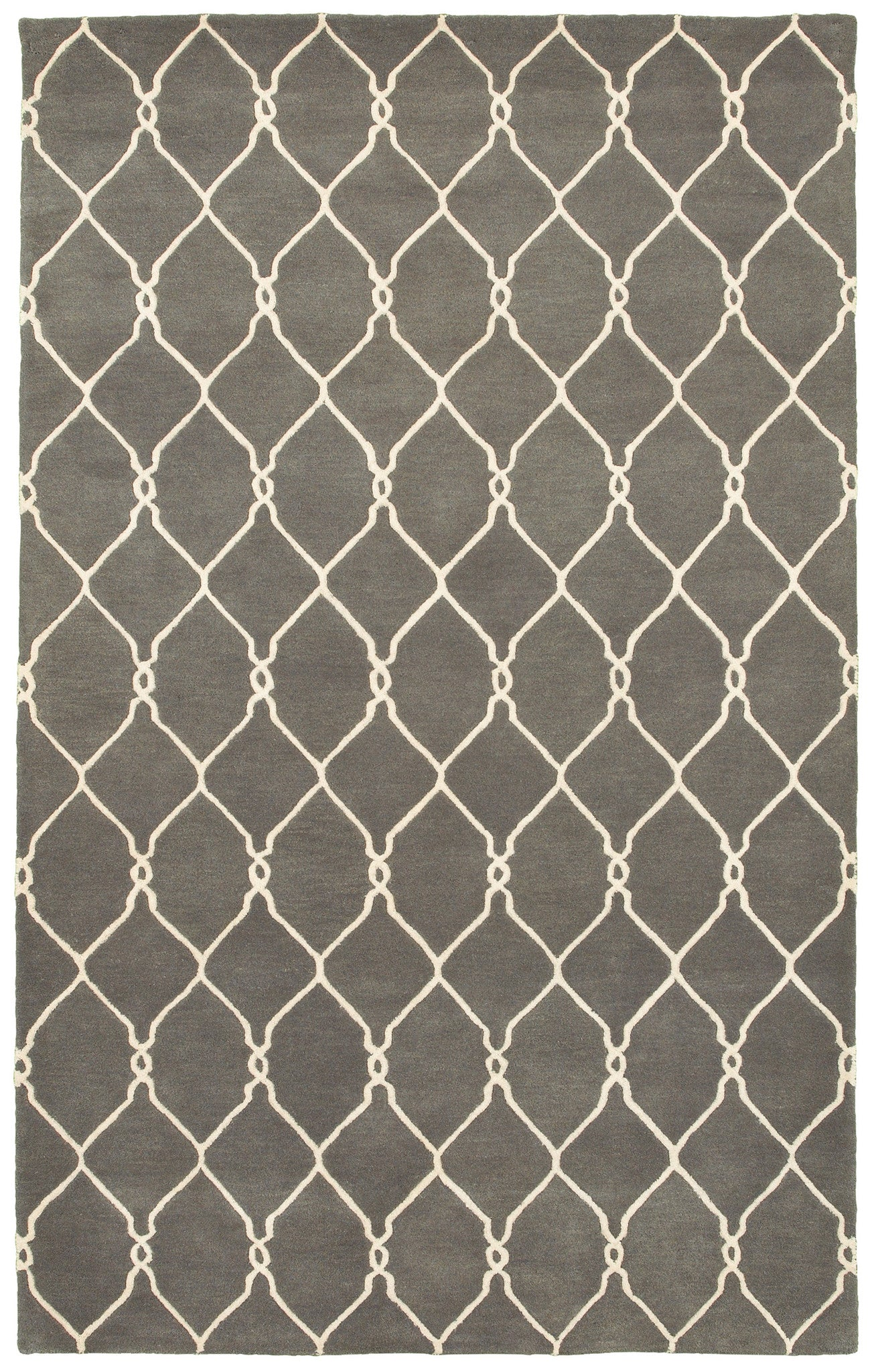 LR Resources Jaali 04904 Gray Area Rug