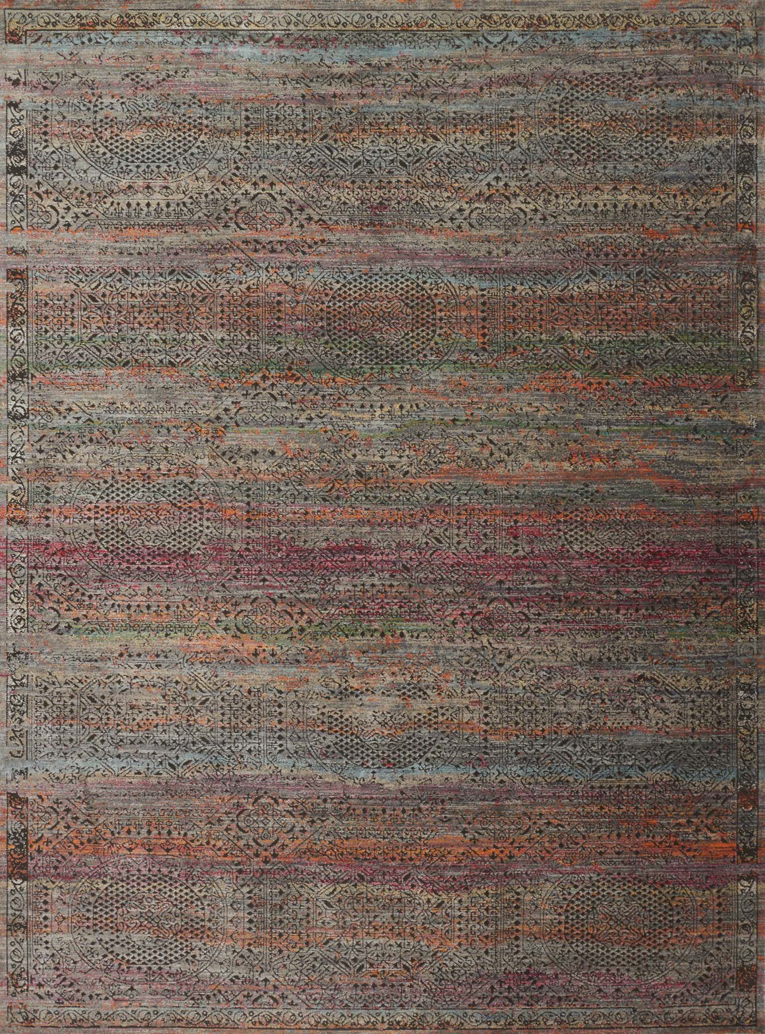 Loloi Javari JV-02 Charcoal/Sunset Area Rug main image