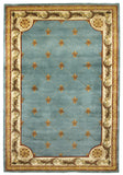 KAS Jewel 0305 Wedgewood Blue Fleur-De-Lis Hand Tufted Area Rug