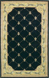 KAS Jewel 0307 Black Fleur-De-Lis Hand Tufted Area Rug