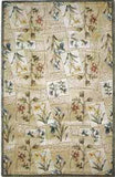 KAS Jewel 0322 Beige Floral Windows Hand Tufted Area Rug