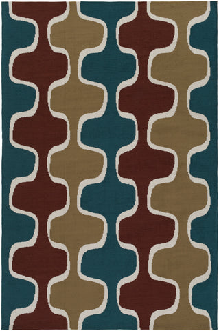 Artistic Weavers Joan Clermont Rust/Teal Area Rug main image