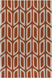 Artistic Weavers Joan Wellesley Bright Orange/Ivory Area Rug main image