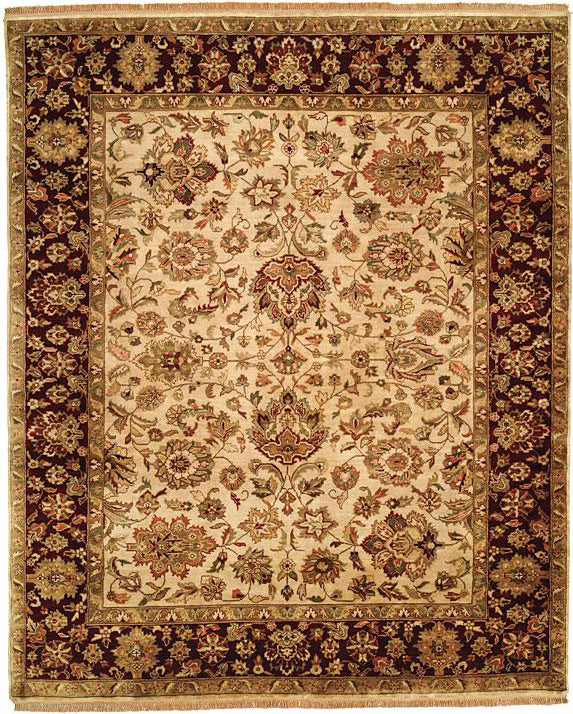 Kalaty Jaipura Jp 462 Beige Burgundy Area Rug Incredible Rugs And Decor