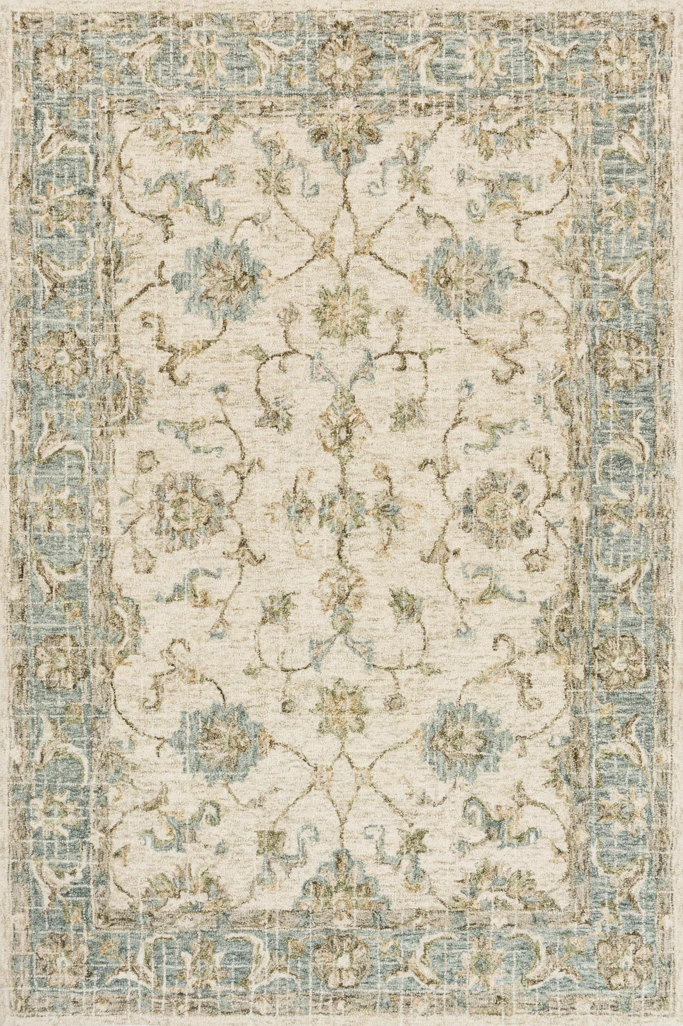 Loloi Julian JI-06 Ivory/Spa Area Rug main image