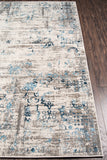 Momeni Juliet JU-01 Blue Area Rug Corner Shot