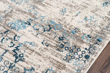 Momeni Juliet JU-01 Blue Area Rug Closeup