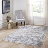 Momeni Juliet JU-01 Blue Area Rug Room Scene