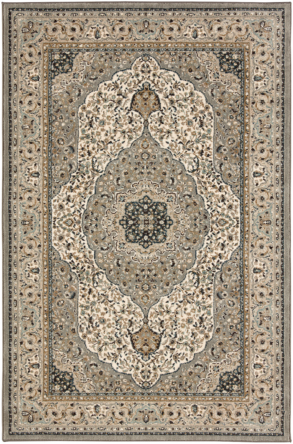 Karastan Touchstone Avonmore Willow Grey Area Rug main image