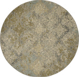 Karastan Touchstone Moy Willow Grey Area Rug Round Image