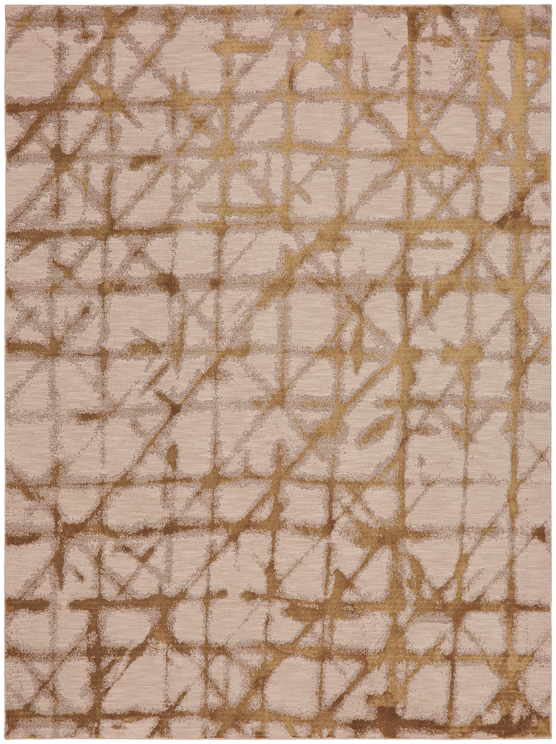 Karastan Enigma Contact Brushed Gold Area Rug main image
