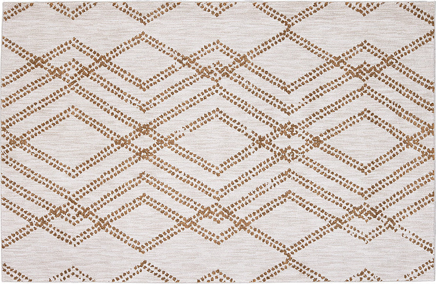 Karastan Cosmopolitan French Affair Brushed Gold Area Rug by Patina Vie main image