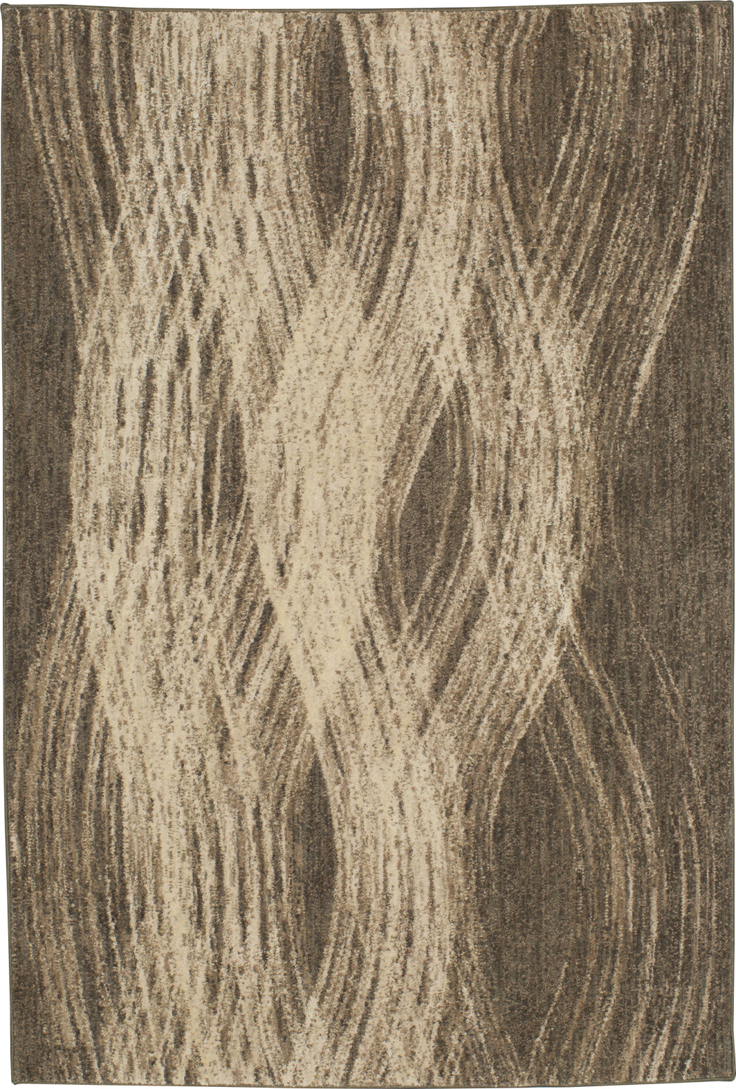Karastan Enigma Allure Smokey Gray Mushroom Area Rug by Virginia Langley main image
