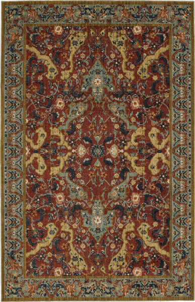 Mohawk Home Vintage Tapis Versailles Garnet Multi Area Rug By Patina