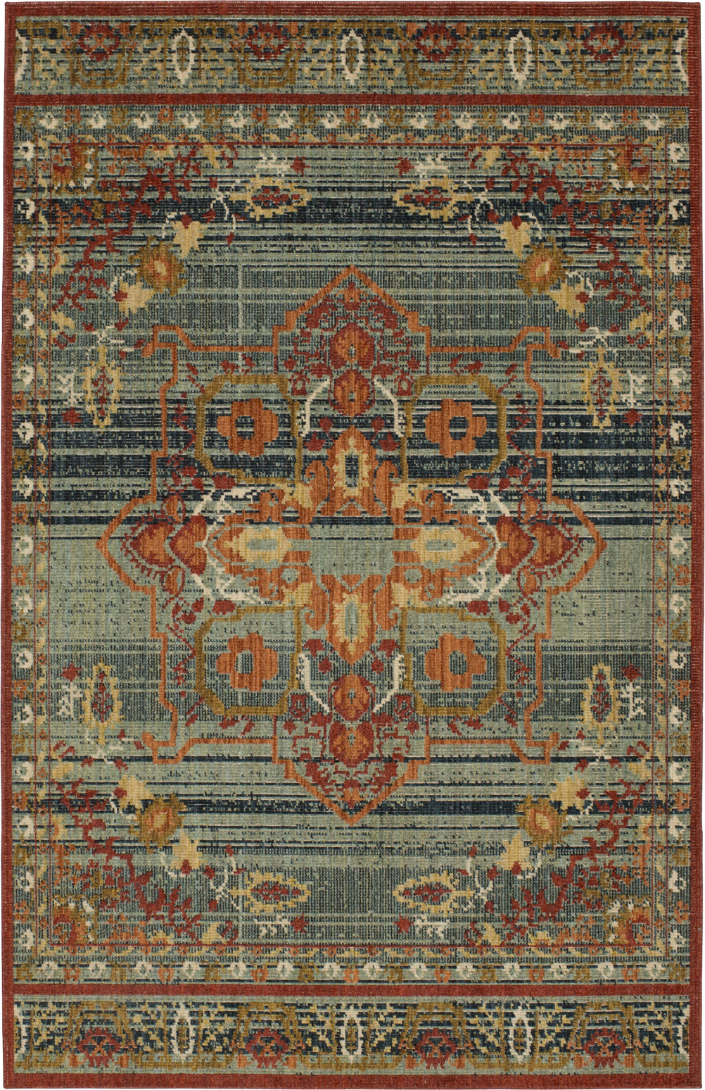 Karastan Vintage Tapis Left Bank Garnet Multi Area Rug by Patina Vie main image