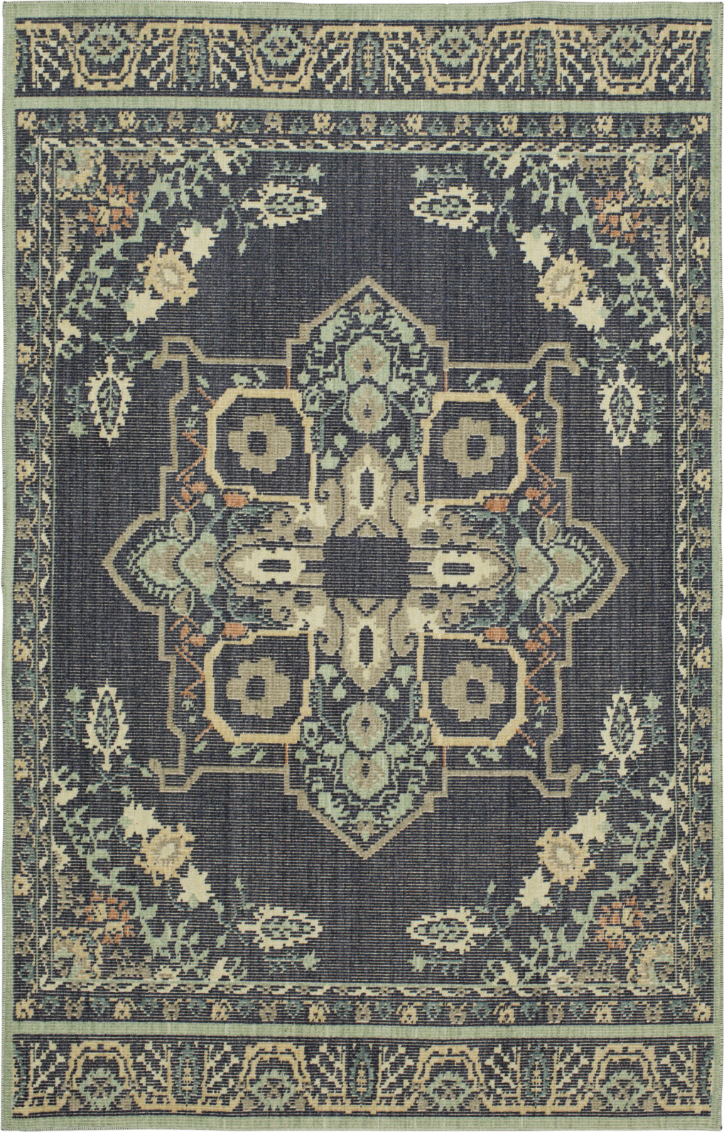 Mohawk Home Vintage Tapis Left Bank Indigo Multi Area Rug by Patina Vie main image