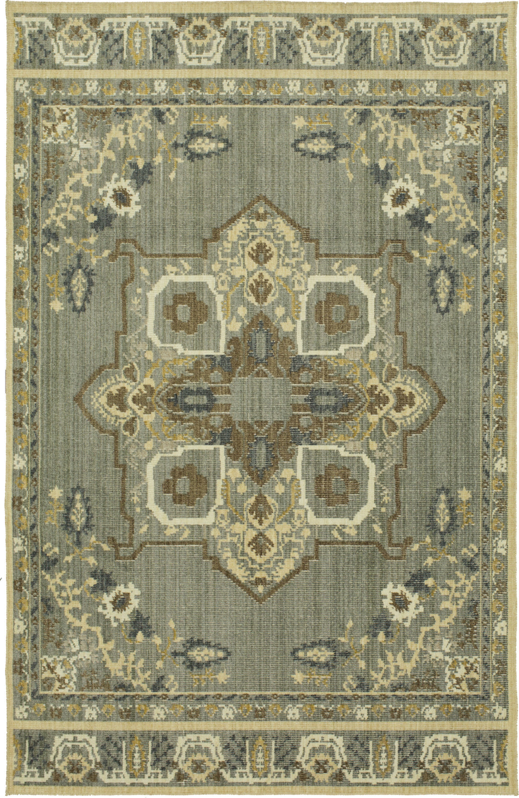 Karastan Vintage Tapis Left Bank Grey Multi Area Rug by Patina Vie main image
