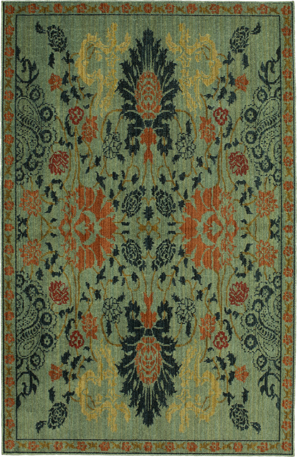 Mohawk Home Vintage Tapis Paris Garden Aquamarine Area Rug by Patina Vie main image