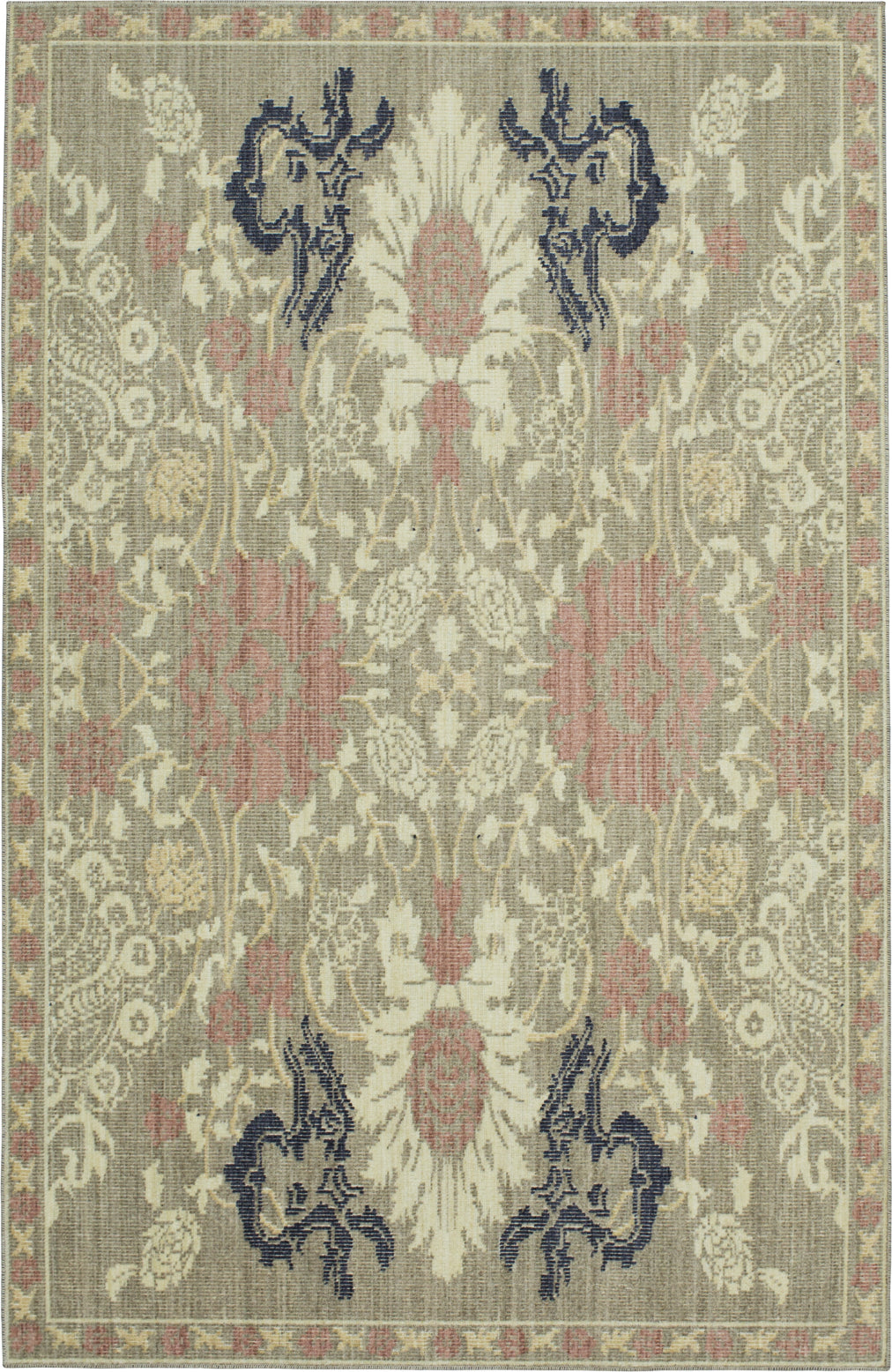 Karastan Vintage Tapis Paris Garden Gray Area Rug by Patina Vie main image