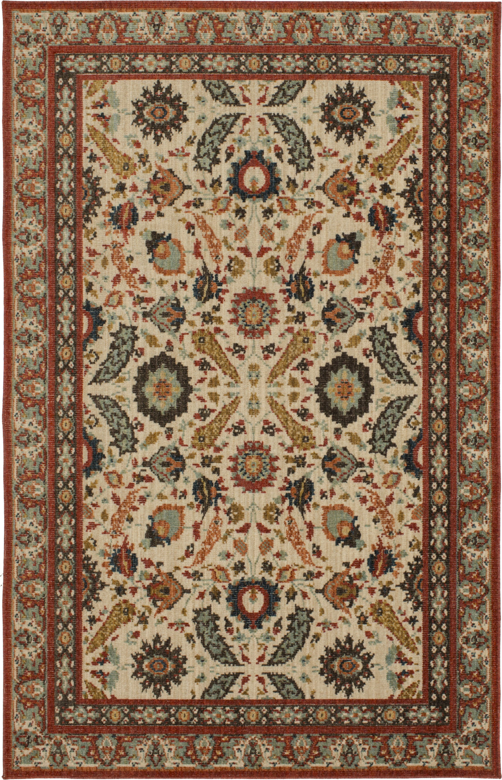 Mohawk Home Vintage Tapis In Full Bloom Garnet Multi Area Rug by Patina Vie main image