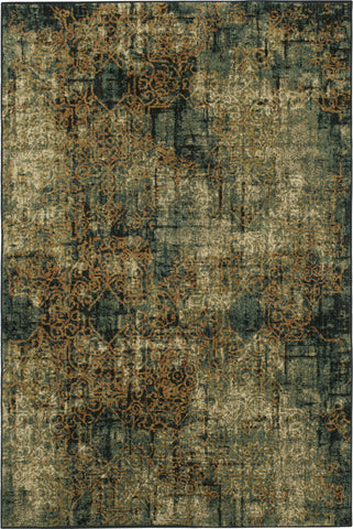 Karastan Spice Market Luciano Aquamarine Area Rug by Virginia Langley main image