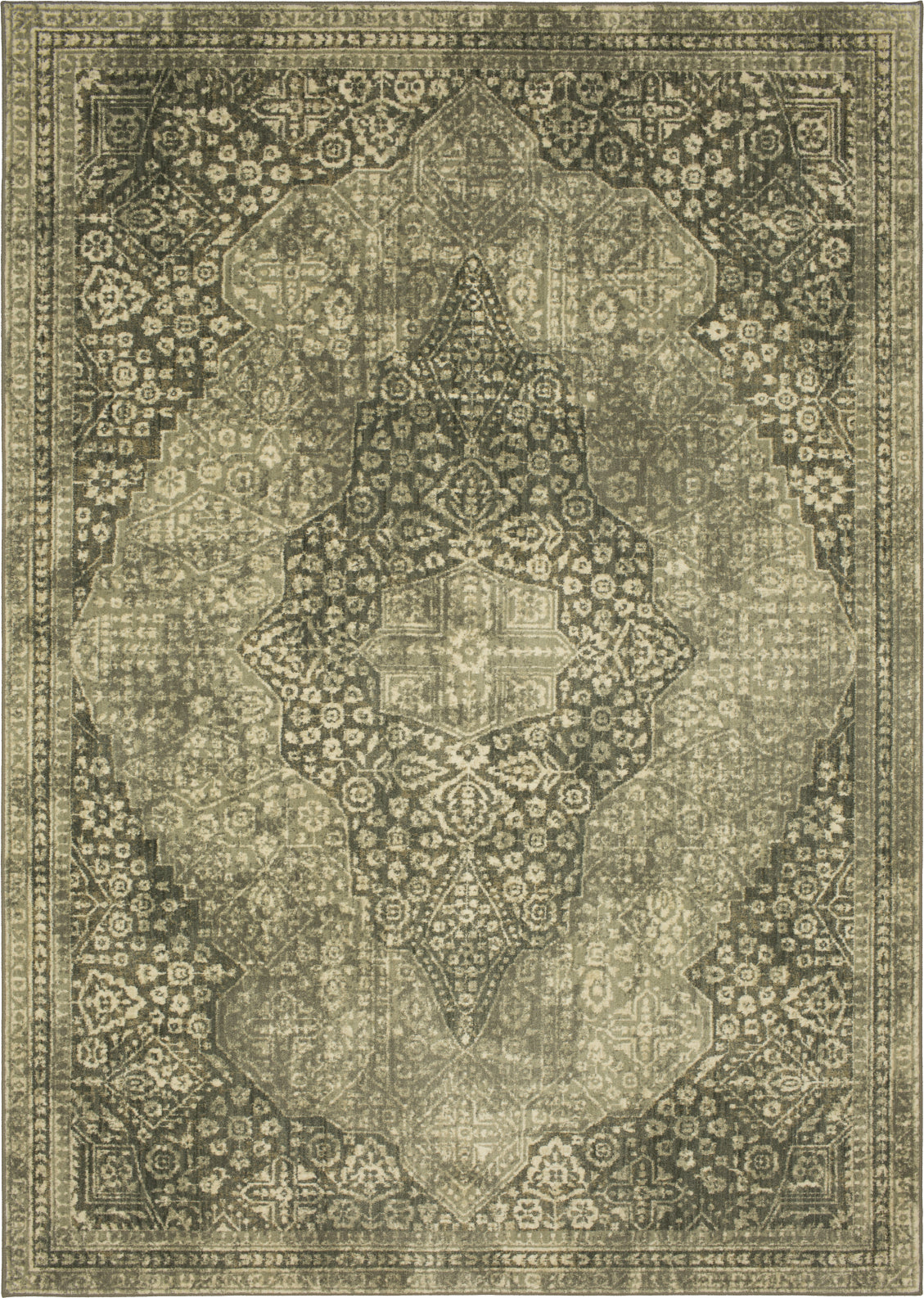 Karastan Euphoria Ziggurat Willow Grey Area Rug main image