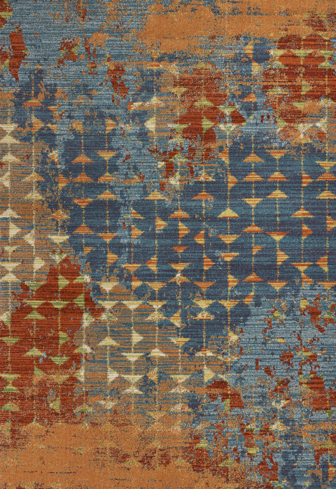 KAS Illusions 6208 Blue/Coral Elements Area Rug main image