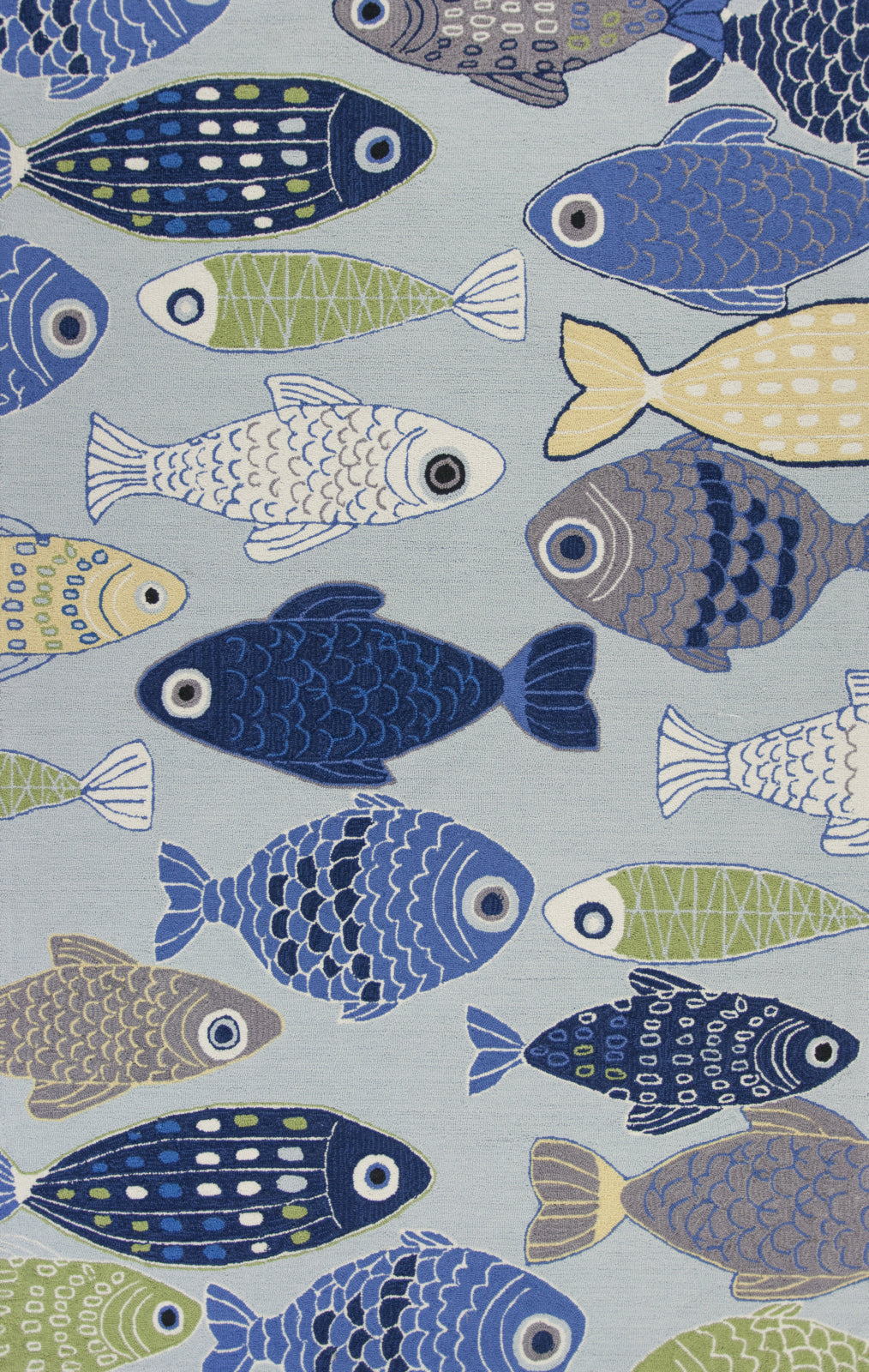 KAS Sonesta 2010 Lt Blue Sea Of Fish Area Rug main image